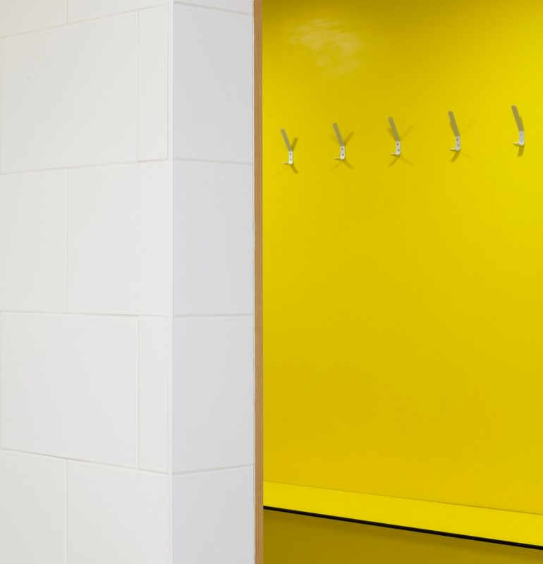 Mosaic Gym yellow changing room
