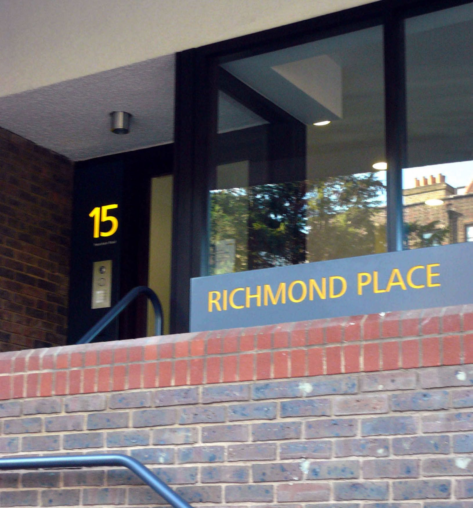 Richmond Place illuminated sign 15