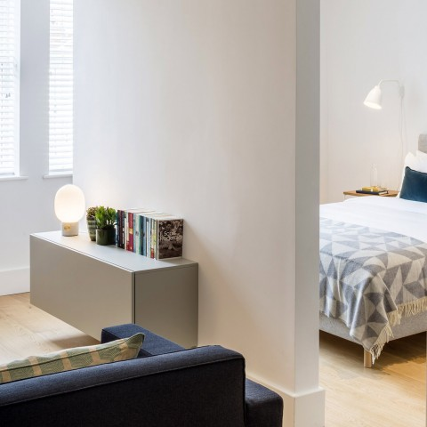 Fulham Road Apartments open plan bed