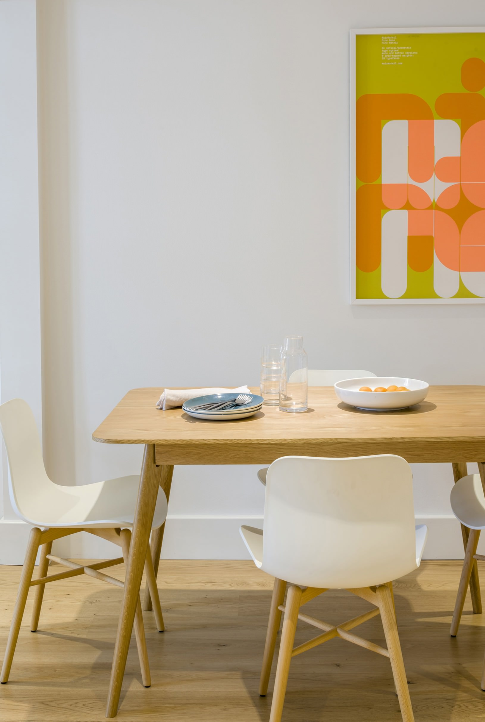 Fulham Road Apartments dining table